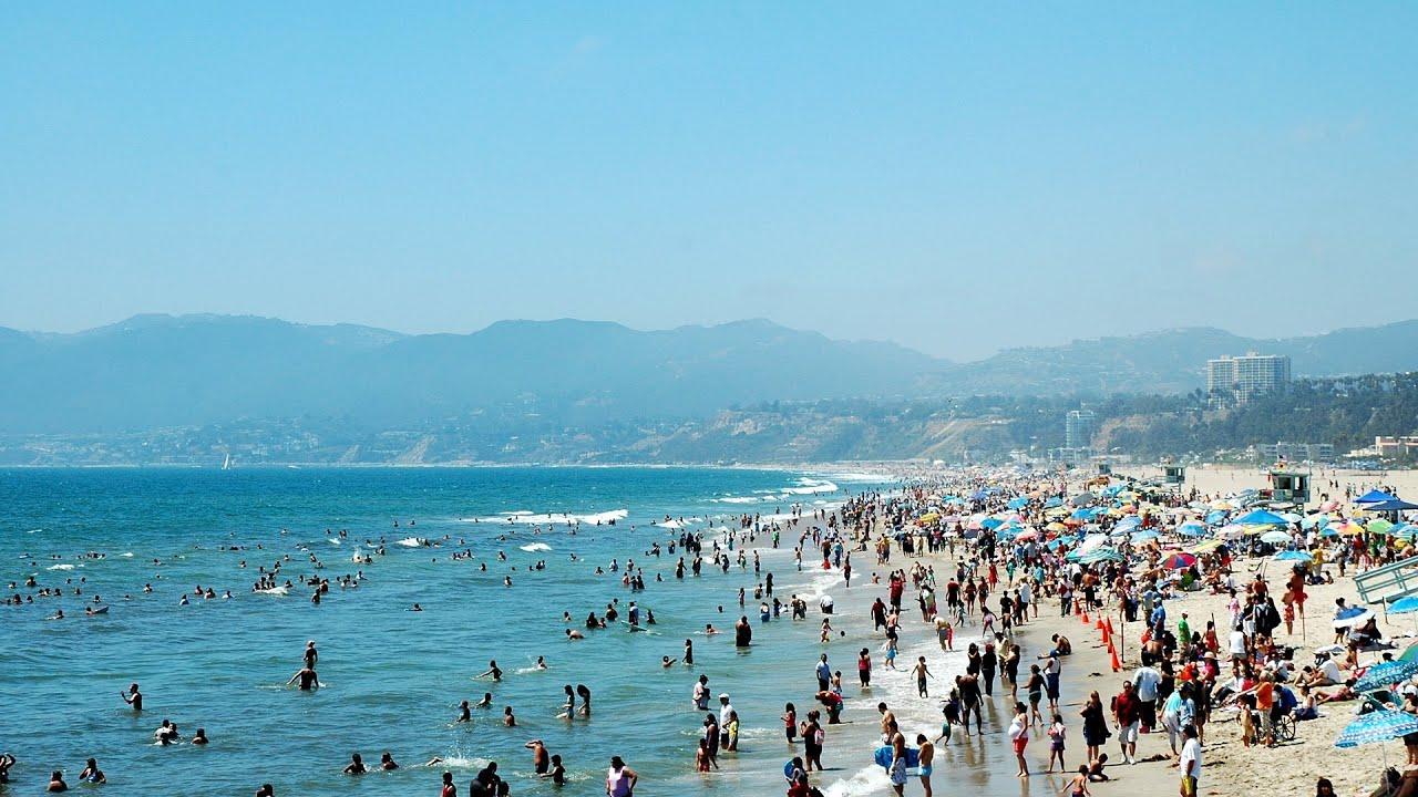 Visiting Santa Monica Beach L A Travel Youtube