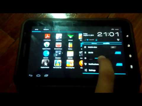 Samsung Galaxy Tab GT-P1000 Running CM9 Stable Ice Cream Sandwich (Fully working and stable)