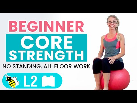 BEGINNER CORE | 15 Minute STABILITY BALL Workout to Strengthen ABS + BUTT for BEGINNERS