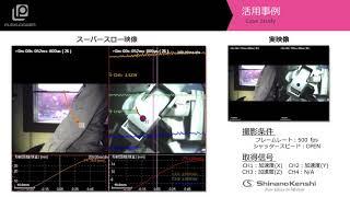 ハイスピードカメラ+データロガー「ロボットの動作遅延解析」