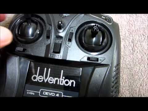 Walkera QR Ladybird v2 Devo 4 transmitter bind fix