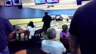 Tony Retto bowling a 299 game.