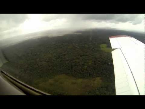 Flying in French Guiana : Landing at Cayenne AirPort