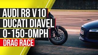 Audi R8 V10 Plus vs Ducati Diavel: 0-150-0mph - autocar.co.uk