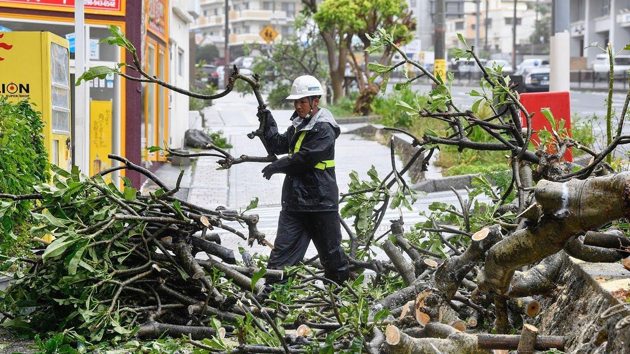 Typhoon Trami closing in southern Japan