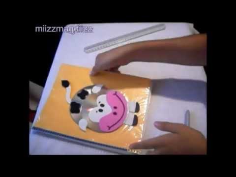 Como decorar tu cuaderno: Vaquita // Reciclaje