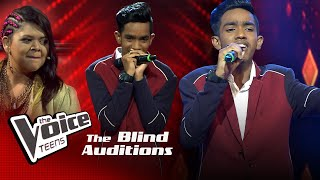 Praveen Matheesha | Sansara Sihine Blind Auditions | The Voice Teens Sri Lanka