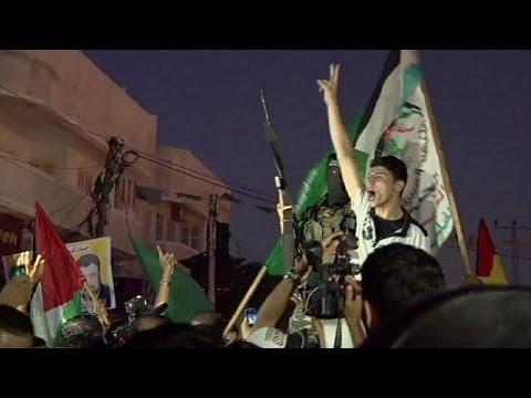 Palestinians celebrate ceasefire between Hamas and Israel