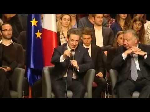 Nicolas Sarkozy en meeting à Vélizy