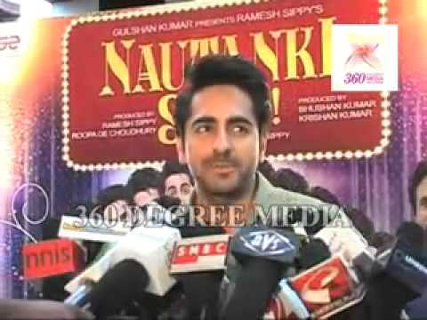Ayushmann Khurrna Talks About His Music Album At The Premiere Of Nautanki Saala video