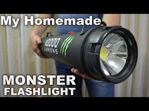 Monster 10,000 Lumens 1000w equiv.LED Flashlight