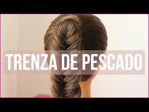 Peinados fáciles: Trenza de pescado, espiga o 2 cabos - Kathy Gámez (Easy messy fishtail Braid)