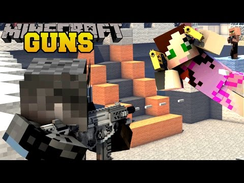 Minecraft: TOO MANY GUNS (ROCKET LAUNCHERS. LASER GUNS. & FUTURISTIC GUNS) Mod Showcase