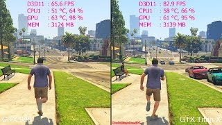 GTA 5 Pc GTX Titan X Vs GTX 980 Frame Rate Comparison