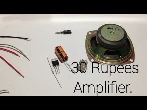 How to make DIY 10 WATT SPEAKER AMPLIFIER for smartphone /30 RUPEES AMPLIFIER /BUDDY TECH. thumbnail
