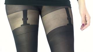UK Tights - Silky Signature Mock Suspender Tights