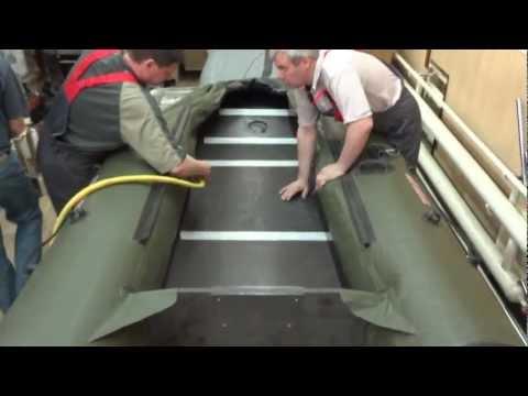 как сложить лодку пвх хантер 290
