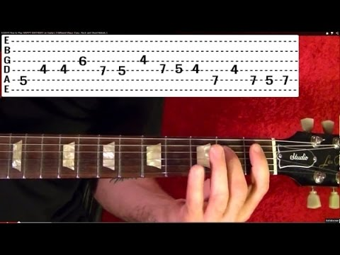 Horror Film Themes Guitar Lesson! JAWS - TWILIGHT ZONE - THE...