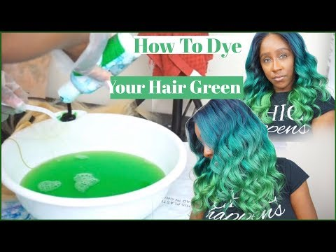 HOW TO DYE YOUR HAIR GREEN/TEAL OMBRE WATERCOLOR | STEP BY STEP TUTORIAL | ALIQUEEN MALL HAIR