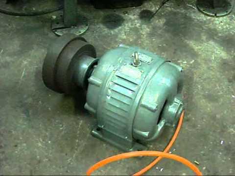 1943 Marelli 220v 3 Phase Electric Motor Test Run Youtube