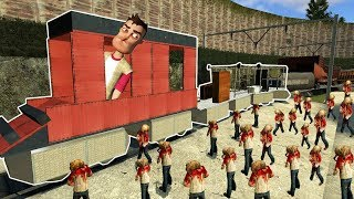 ZOMBIE HORDE SURVIVAL & BUILDING A TRAIN! | Garry's Mod Gameplay | Gmod Roleplay (Kid Friendly)