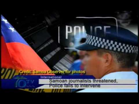 Samoan journalists threatened, Police fails to intervene