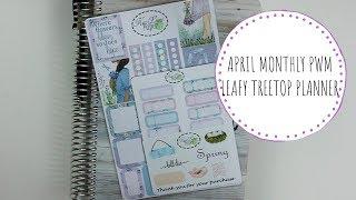 APRIL MONTHLY PWM || LEAFY TREETOP PLANNER || MORMON MOM PLANNER || FT KIWILIMEPAPER