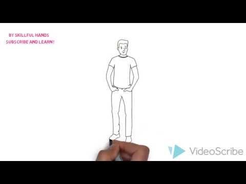Видео как нарисовать человека мальчика