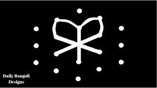 Small Simple Kolam With 5X3 dots #781 | Muggulu | Easy Rangoli Designs | Simple Easy Kolangal Art