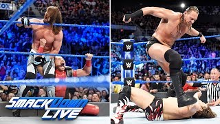 HINDI - AJ Styles & Daniel Bryan vs. Rusev & Aiden English: SmackDown LIVE, 17 April, 2018