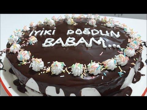 Çikolata Soslu Yaş Pasta Tarifi - Evde Doğum Günü Pastası Tarifi