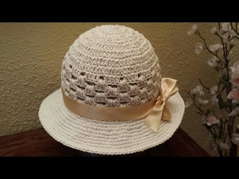 Gorro de verano / Bonnet of summer !! Tutorial DIY ¡¡