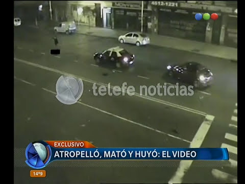 Atropelló y mató: video del impacto - Telefe Noticias