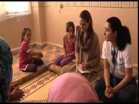 Angelina Jolie  Syrian Refugees In Lebanon UNHCR