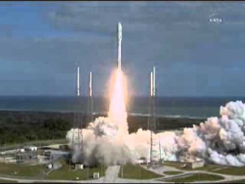 (From NASA TV) Mars Science Laboratory Curiosity Launch On An Atlas 5 Rocket