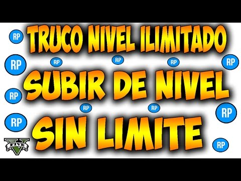 SUBIR DE NIVEL ILIMITADO en GTA V ! Nuevo truco RP ILIMITADO - GTA 5 ONLINE