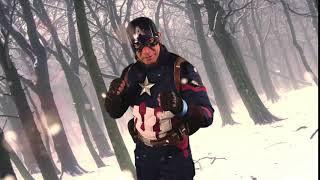 Captain America con fondo puesto en GAMACON 2018