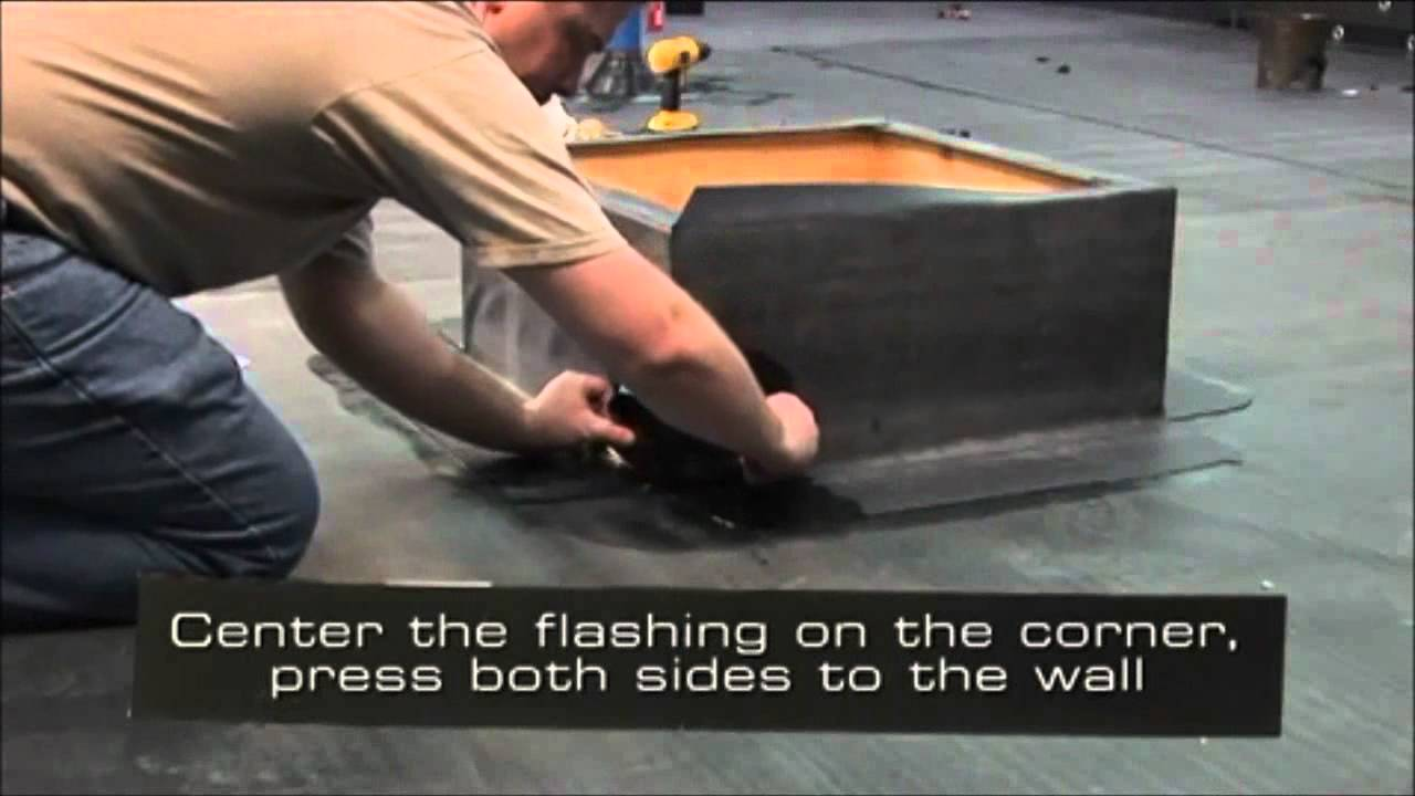 Rubber Roofing Epdm Outside Corner Flashing Youtube