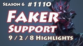 SKT T1 Faker - Elise Support - NA LOL SoloQ Highlights