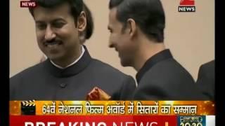 National Film Awards: President Pranab Mukherjee honours Akshay Kumar, Sonam Kapoor