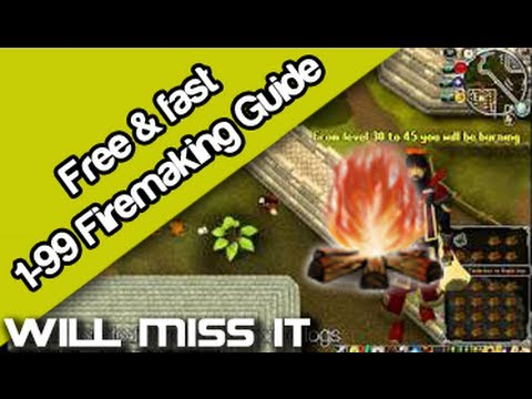Runescape – 1 – 99 Firemaking guide (Fast and cheap)