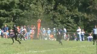 tyler back in day, gets drilled on kickoff return