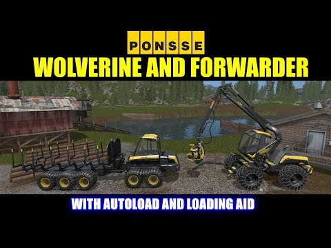 Farming Simulator 17 - Ponsse Wolverine and Forwarder Forestry Equipment