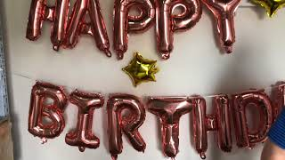 Happy Birthday and Hen Party Balloon Banner Instruction Video