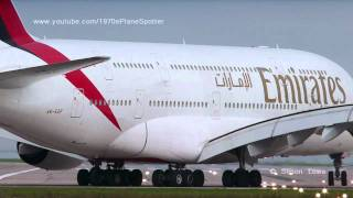 Airbus A380 rear view takeoff