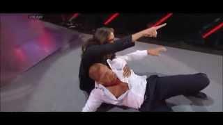 Wwe Monday Night Raw  Daniel Bryan Attacks Triple H  31 03 2014