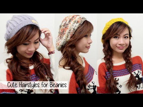 Cute Fall/Winter Hairstyles for Beanies l Quick Easy Hairstyles for Medium Long Hair