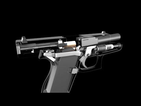 Внутри Glock 43. 3D-анимация пистолета Глок 43