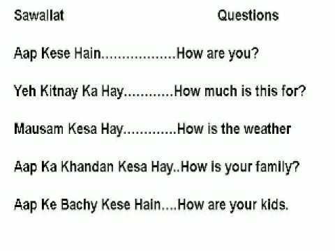 Learn English For Urdu Speakers.  Lesson 1. Questions