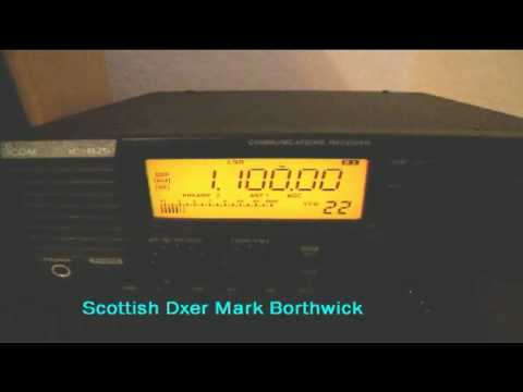 MW DXing  WTAM 1100khz Cleveland Ohio received In Scotland with Icom IC-R75 and EWE antenna